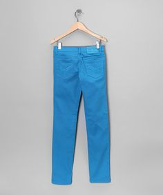 Take a look at this Turquoise Skinny Jeans by Miss Jeans on #zulily today!