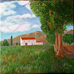 Acrílico sobre lienzo. Variación sobre una obra de Van Gogh.