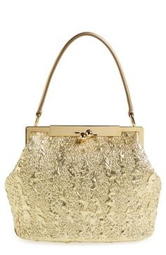 Free shipping and returns on Dolce&Gabbana Brocade Handbag at Nordstrom.com. An opulent gold-dipped look sets apart a frame handbag furnished with a smooth lambskin-leather carry handle for added vintage glamour.