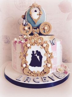 Cinderella cake  - Cake by Kirsty1985b