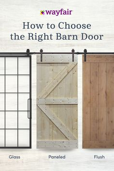Check out Barn Door ideas from Wayfair and create your dream home. Get inspiration, great deals, and free two-day shipping on thousands of products. Shop now! Case Creole, Modern Farmhouse, Farmhouse Decor, House Doors, My New Room, Home Living Room, Interior Design Living Room, My Dream Home, Family Room