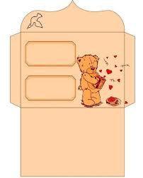 Resultado de imagen para plantillas sobres para imprimir de amor