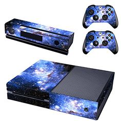 UUShop Starry Sky Skin Stickers for Microsoft Xbox One with Two Free Wireless Controller Decals ** To view further for this item, visit the image link.Note:It is affiliate link to Amazon. #commentlike