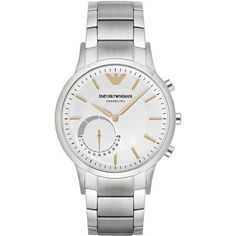 EMPORIO ARMANI Ea Connected Watches (€290) ❤ liked on Polyvore featuring men's fashion, men's jewelry, men's watches, men, silver, mens watches jewelry, mens watches, emporio armani mens watches and stainless steel mens watches #ad