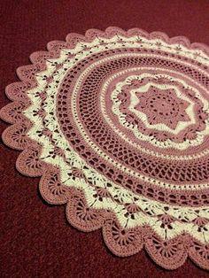 Best 11 Rings of change - Ravelry pattern Baby Afghan Crochet Patterns, Crochet Doily Rug, Crochet Carpet, Crochet Mandala Pattern, Crochet Tablecloth, Crochet Diagram, Crochet Round, Crochet Home, Crochet Gifts
