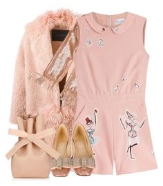 """perfect pink"" by pensivepeacock ❤ liked on Polyvore featuring BLANCHA, Alice + Olivia, RED Valentino, Kate Spade and Jimmy Choo"