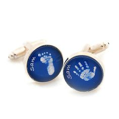 Glass hand and foot #print cufflinks * #father's day gift * finger#print #jeweller,  View more on the LINK: 	http://www.zeppy.io/product/gb/2/320910541384/