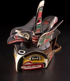 Hiłamas (Willie Seaweed or Smoky Top, ´Nak´waxda´xw Kwakwaka´wakw, 1873–1967), gikiwe´ (chief's headdress)  ca. 1949  Vancouver Island, British Columbia  Cedar wood, paint, velveteen