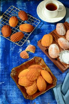 Honey Vanilla Madeleines. French cookies which are more like cake in taste and texture.