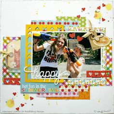 Doodlebug Design Inc Blog: Hot Fun in the Summertime Layout Inspiration by Monique Liedtke