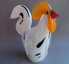 Shoply.com -Hand Blown Art Glass Rooster. Only $85.00