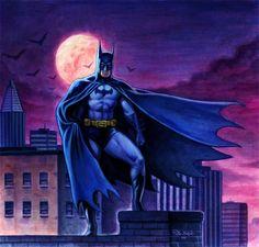 Batman on a Rooftop by ~Habjan81