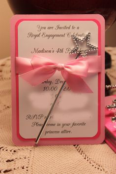 Birthday Party Theme....A Princess Birthday Party For The Elementary School Girl Complete With Invitations, Wands, Centerpieces, Gift Bags,Etc...All Inexpensive and Simply Precious & Beautiful!!  Going To Use This For My Granddaughter In June...That's a Promise!!