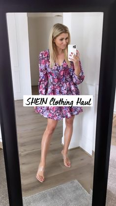 Summer Outfits Women, Summer Dresses, Casual Outfits, Fashion Outfits, Women's Fashion, Clothing Haul, Bishop Sleeve, Great Legs, Training Workouts