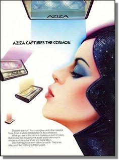 1985 Aziza eye shadow captures the cosmos photo-ad