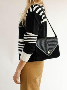Maison Mayle - Inés Chevron Bag - Black