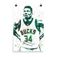 Giannis Antetokounmpo Milwaukee Bucks Poster