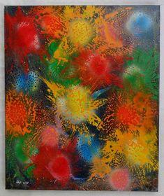 """G.A.Zanussi """"Happy new year"""", Arte contemporanea quadro 60 x 50, opera su tela 2017"""