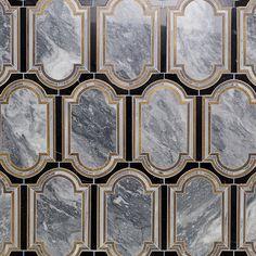 Inara Kentucky Haze Brass And Marble Tile   TileBar.com