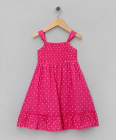 Take a look at this Pink Polka Dot Dress - Toddler & Girls by Sweet Elegance on #zulily today!
