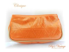 Unique Tangerine Orange Vintage Clinique by PegsVintageJewellery