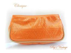 Unique Tangerine Orange Vintage Clinique by PegsVintageJewellery