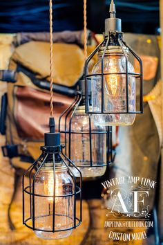 Mason Jar with cages chandelier light vintage Industrial, Antique Edison Bulb, Mason Jar Lamp, Rustic Lighting