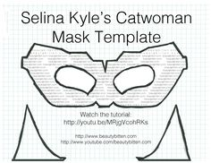 beautybitten: Halloween DIY: Selina Kyle/Catwoman Costume (The Dark Knight Rises) - Mask, Makeup, and Hair Catwoman Cosplay, Cosplay Gatúbela, Diy Catwoman Costume, Halloween Masks, Holidays Halloween, Halloween Diy, Halloween 2020, Costume Halloween, Costumes