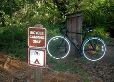 Henry Cowell State Park (in California) Bicycle Camping is CHEAPER than Car Campers!