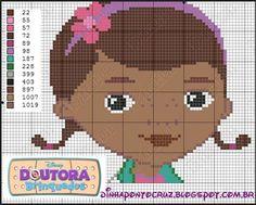 """Para encerrar a semana finalmente temos a doutora brinquedos  menina de seis anos chamada Dottie """"Doc"""" McStuffins (no Brasil e em Portugal..."""