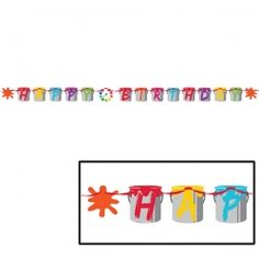 Art Party 7 Foot Birthday Banner Party Supplies Canada - Open A Party