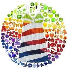 Rainbow Product Collage amandamays