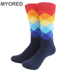 Men's Colored Knee-High Dress Socks - 10 Colors to Choose From! - Purely Infinity
