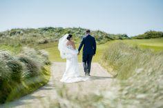 #weddingday #stroll for #couple #Trumpdoonbeg #beachwedding #golfwedding