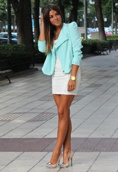 Turquoise , Fashion Pills in Jackets, coosy in Dresses
