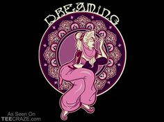 Dreaming Of Jeannie T-Shirt Designed by Alyssa Potter    Source: http://teecraze.com/dreaming-of-jeannie-t-shirt/