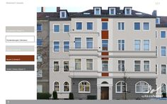 Maler Hannover Heyse - finaler Entwurf für die Gestaltung einer Altbaufassade in Hannover.