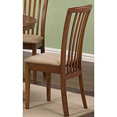 @Overstock - Add some class to your home decor with a pair of slat back dining chairs  Sophisticated dining chairs have a modern, versatile design  Chairs are constructed with cherry oak color rubberwoodhttp://www.overstock.com/Home-Garden/Cherry-Oak-Wood-Slat-back-Chairs-Set-of-2/3678396/product.html?CID=214117 $172.99