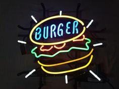 【展示品】ハンバーガー ネオン★約40×50㎝★ネオンライト_画像3