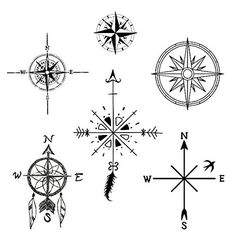 Tattify Assorted Compass Temporary Tattoos - Never Eat Soggy Waffles (Set of 12): Amazon.co.uk: Beauty