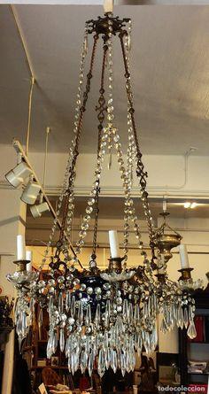 Antiguo trabajo hecho a mano cloisonne tallado flor - Venta de lamparas antiguas ...