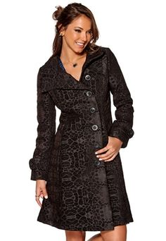 Desigual Abrig Traizia Coat Negro - ooh this would be nice, if it only would not be polyester