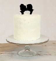 Wedding Cake Toppers - Vintage-inspired silhouette wedding cake topper #Wedding #Cake #Topper #Bridal