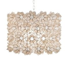 THE WELL APPOINTED HOUSE - Luxuries for the Home - THE WELL APPOINTED HOME Worlds Away Rosette Capiz Shell Pendant