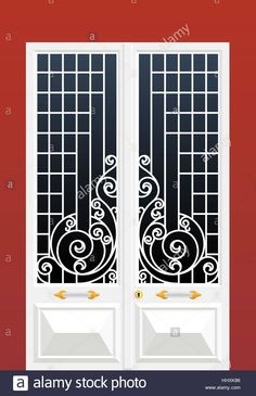 Global colour used Stock Vector Art & Illustration, Vector Image: 131507606 - Alamy Metal Doors Design, Art Deco Door, Window Grill Design, Gate Wall Design, Grill Gate Design, Exterior Door Designs, Front Gate Design, Grill Door Design, Window Seat Design