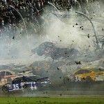 NEWS IN PHOTOS: 2015 July Daytona Beach crash NASCAR Sprint Cup Series driver Austin Dillon (car crashes against the catch fence during the finish of the Coke Zero 400 at Daytona International Speedway in Florida. Nascar Crash, Nascar Sprint Cup, Nascar Racing, Real Racing, Auto Racing, Daytona 500, Daytona Beach, Medan, Course Nascar