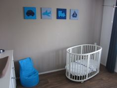 1000 images about babykamer jongen on pinterest met little man and aqua - Blauwe en grijze jongens kamer ...