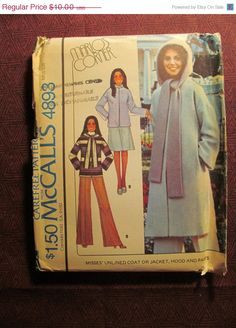 SALE Uncut 1970's McCall's Sewing Pattern 4893 by EarthToMarrs, $7.50