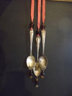 Silverware Christmas Ornaments Vintage by tawnystreasures on Etsy, $28.00
