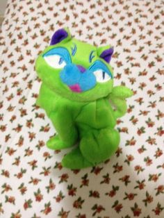 Floppy Friends Cool Cat Diva the Green Cat Plush Beanie Doll 8